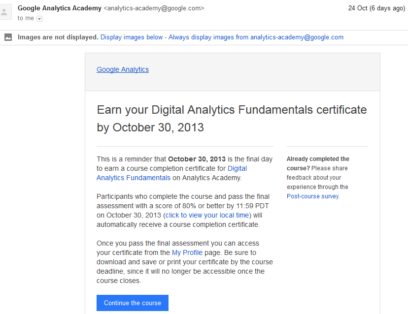 Google Analytics Academy - Review - Dr Simone Kurtzke