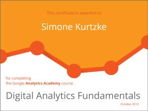 Google Analytics Academy - Certificate