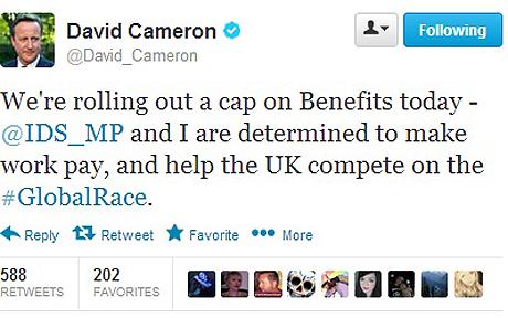 David Cameron Twitter gaffe - IDS