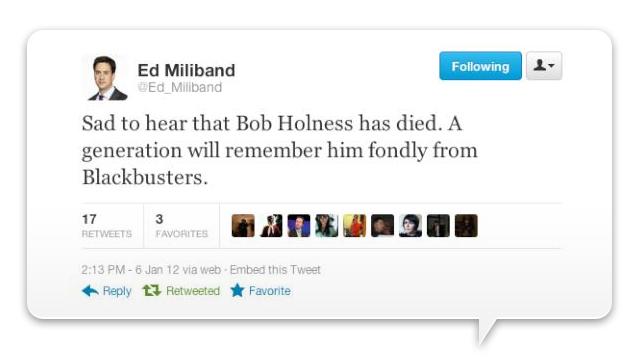 Ed Miliband Twitter fail - Blackbusters