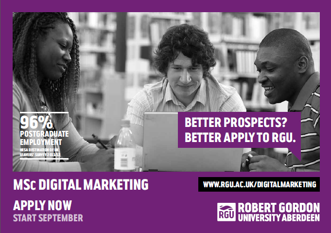 Digital Marketing Masters - RGU Flyer