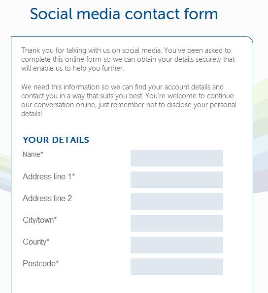 Social Media Customer Service - Form