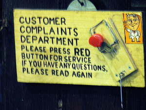 customer complaints department