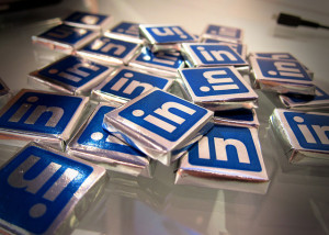 linkedin logo chocolates